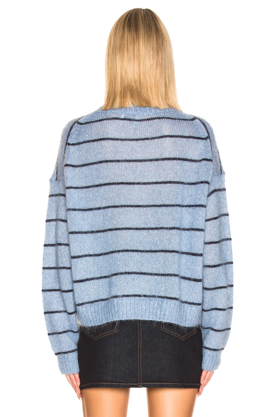Image 3 of Acne Studios Kassidy Sweater in Denim Blue & Navy