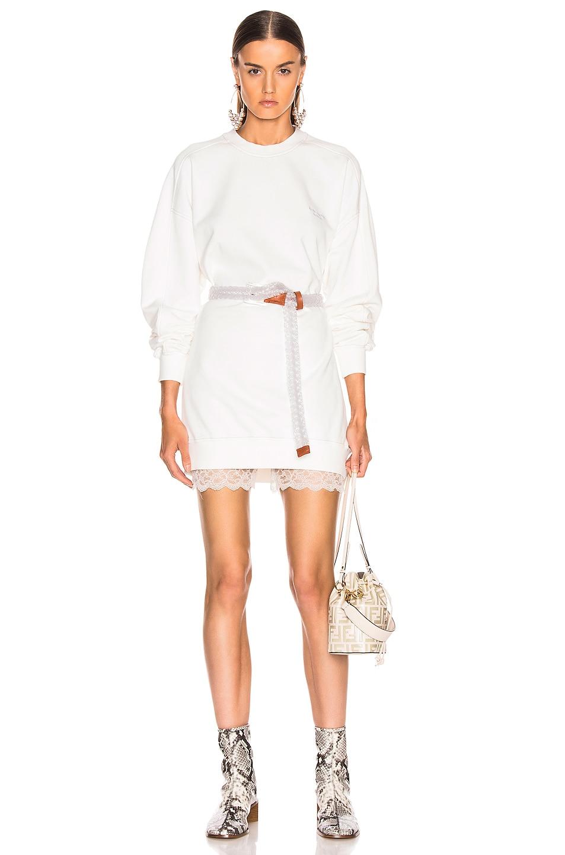 Image 1 of Acne Studios Wora Sweatshirt in Optic White