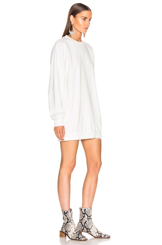 Image 2 of Acne Studios Wora Sweatshirt in Optic White