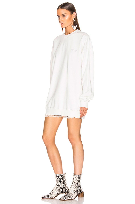 Image 3 of Acne Studios Wora Sweatshirt in Optic White