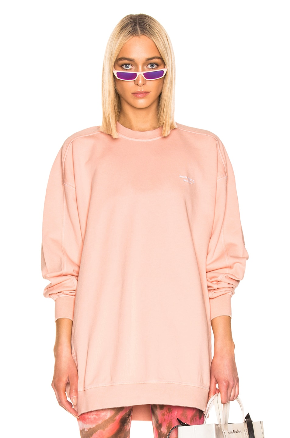 Image 1 of Acne Studios Wora Sweatshirt in Pale Orange