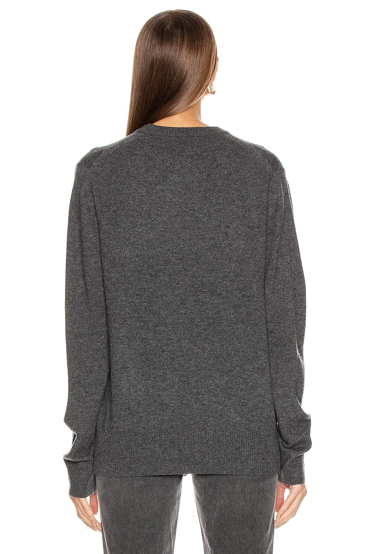 Image 3 of Acne Studios Nalon Face Sweatshirt in Dark Grey Melange