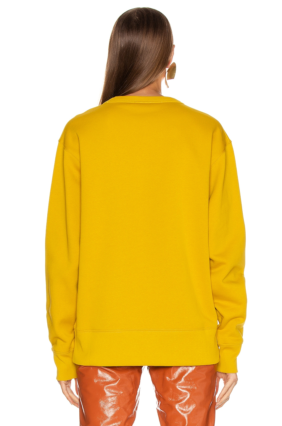 Image 3 of Acne Studios Fairview Face Sweatshirt in Amber Yellow