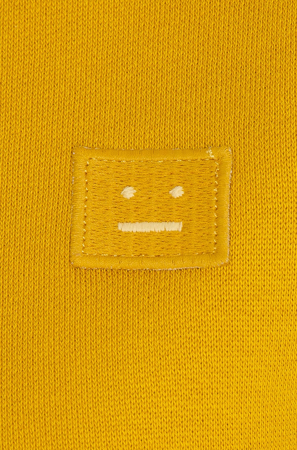 Image 5 of Acne Studios Fairview Face Sweatshirt in Amber Yellow