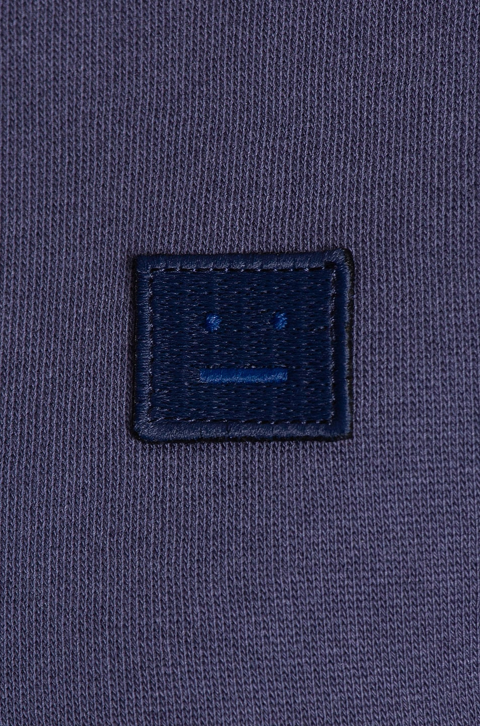 Image 5 of Acne Studios Fairview Face Sweatshirt in Denim Blue