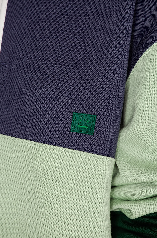 Image 5 of Acne Studios Flint Flag Face Sweater in Denim Blue