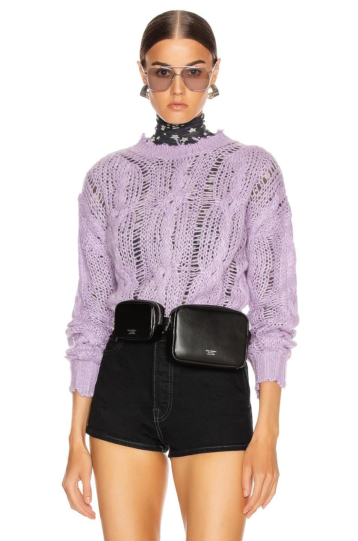 Image 1 of Acne Studios Kella Cable Sweater in Lilac Purple