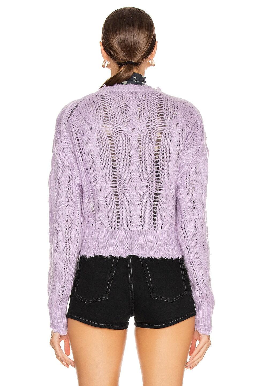 Image 3 of Acne Studios Kella Cable Sweater in Lilac Purple