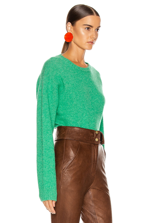 Image 2 of Acne Studios Samara Sweater in Bright Green