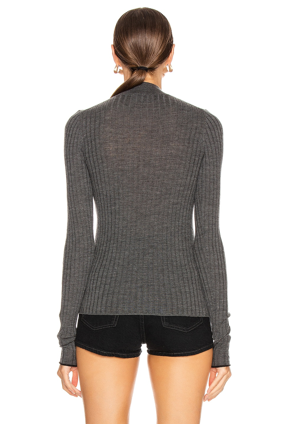 Image 3 of Acne Studios Kulia Sweater in Anthracite Grey