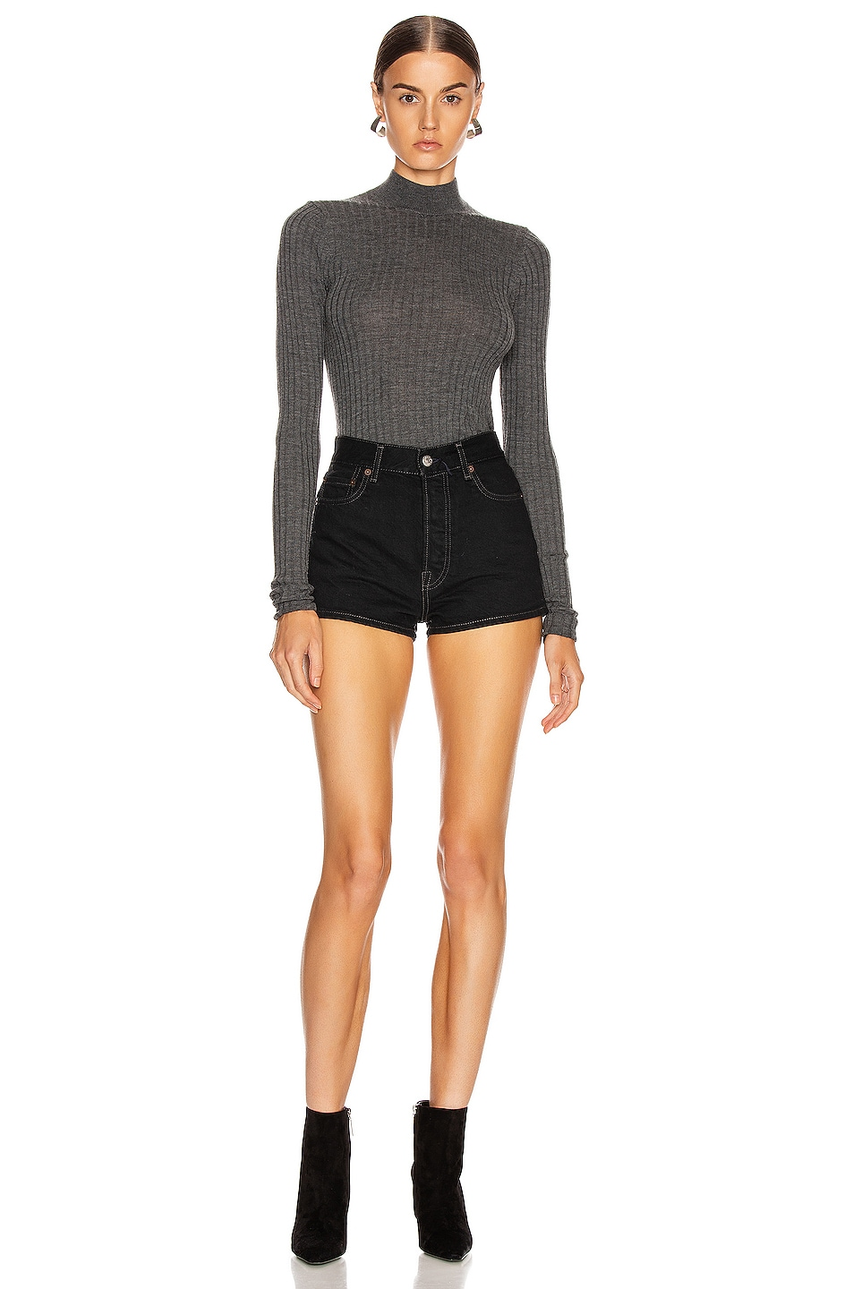 Image 4 of Acne Studios Kulia Sweater in Anthracite Grey