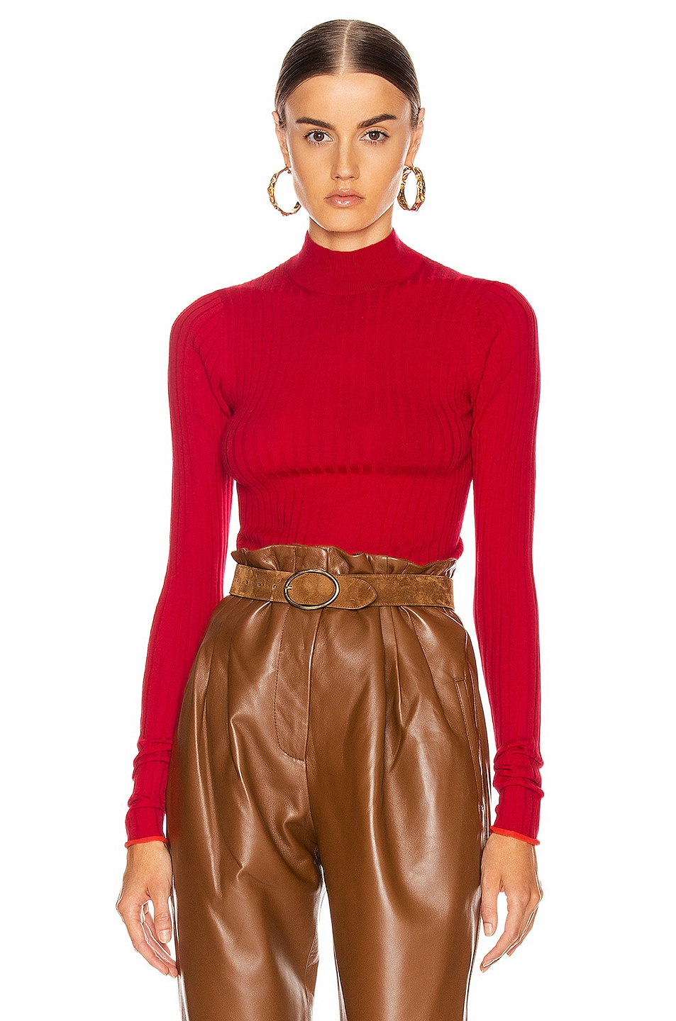 Image 1 of Acne Studios Kulia Sweater in Ruby Red