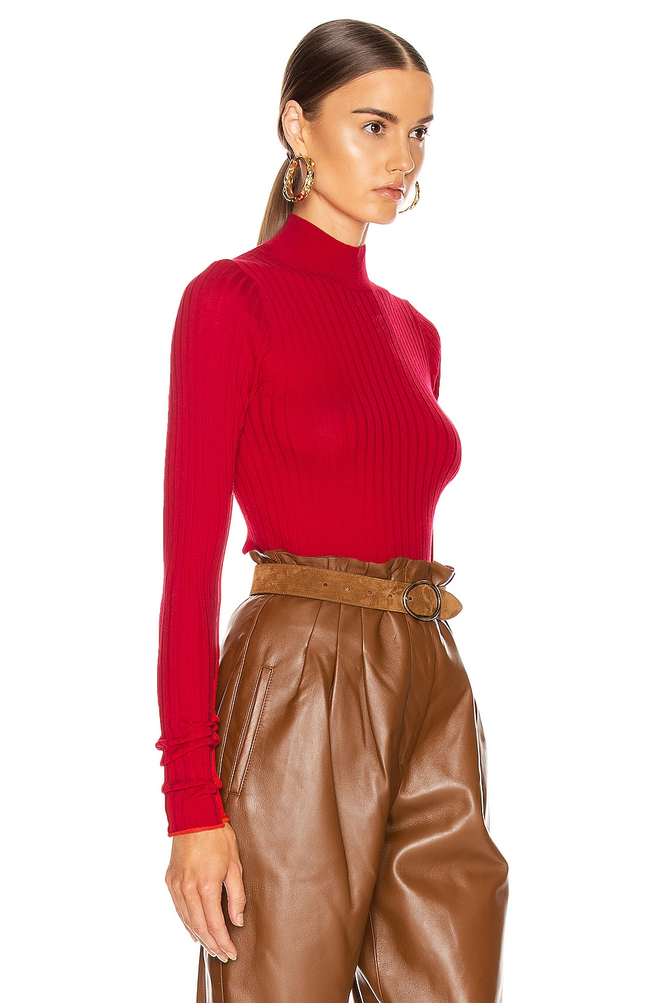 Image 2 of Acne Studios Kulia Sweater in Ruby Red