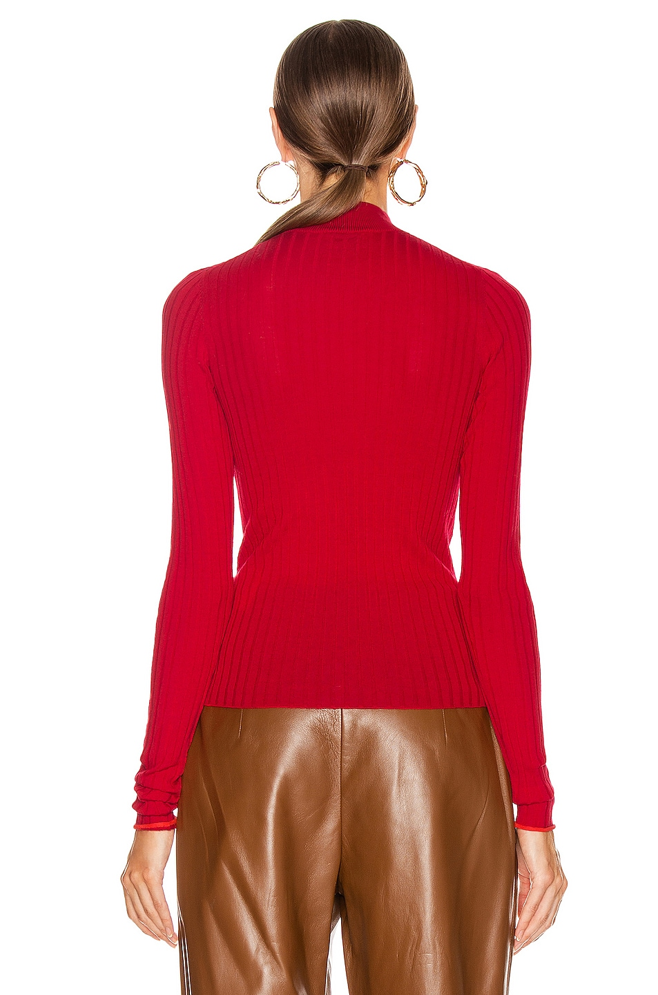 Image 3 of Acne Studios Kulia Sweater in Ruby Red