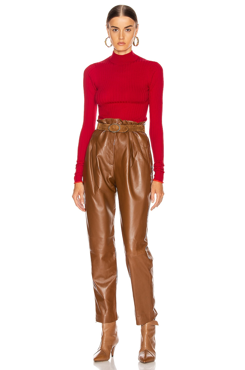 Image 4 of Acne Studios Kulia Sweater in Ruby Red