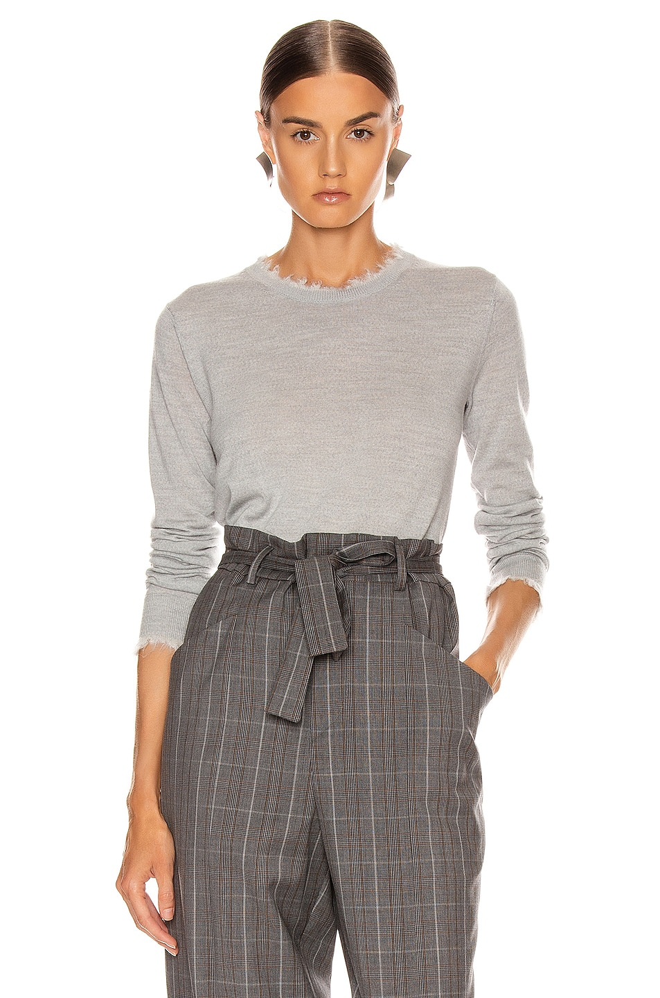 Image 1 of Acne Studios Kaja Sweater in Light Grey Melange