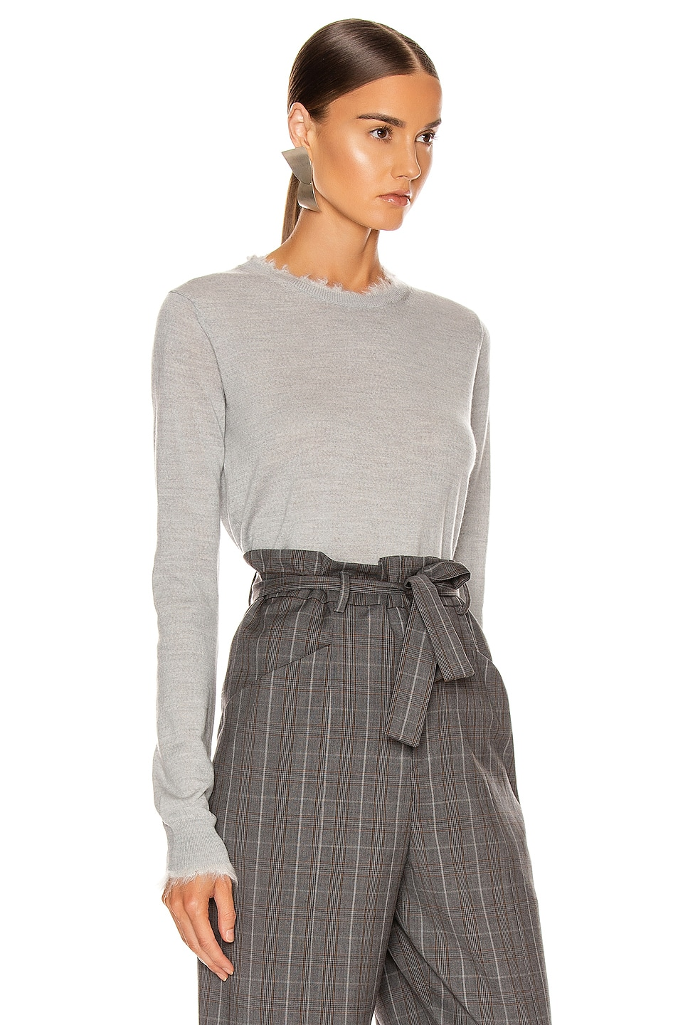 Image 2 of Acne Studios Kaja Sweater in Light Grey Melange