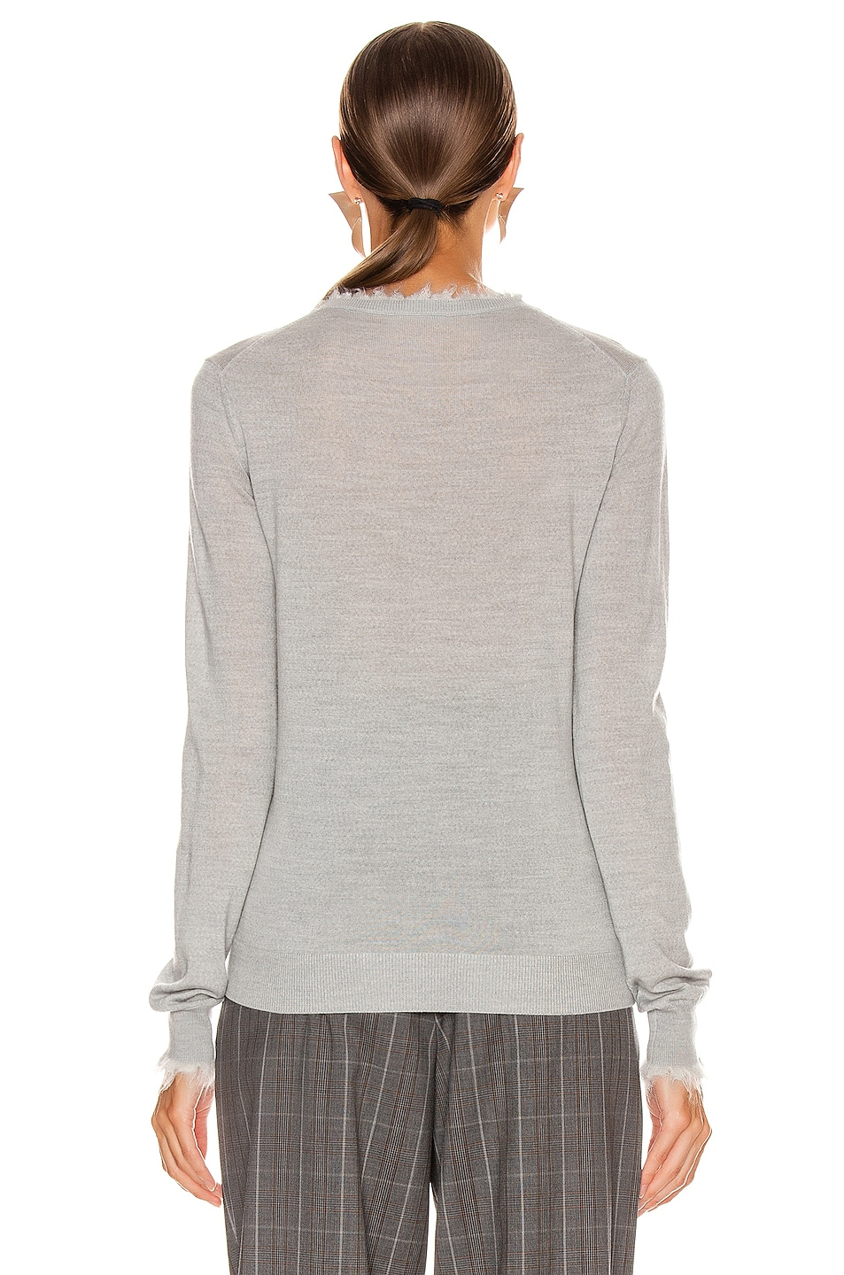 Image 3 of Acne Studios Kaja Sweater in Light Grey Melange