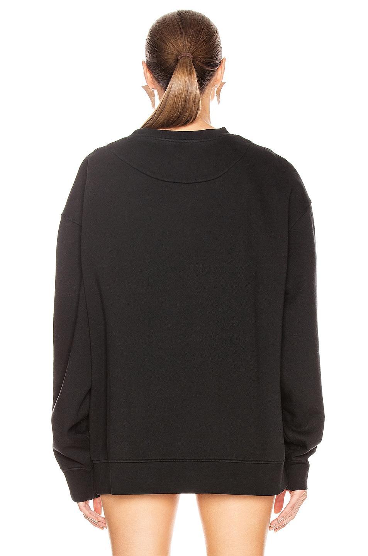 Image 3 of Acne Studios Fyono Logo Sweatshirt in Black