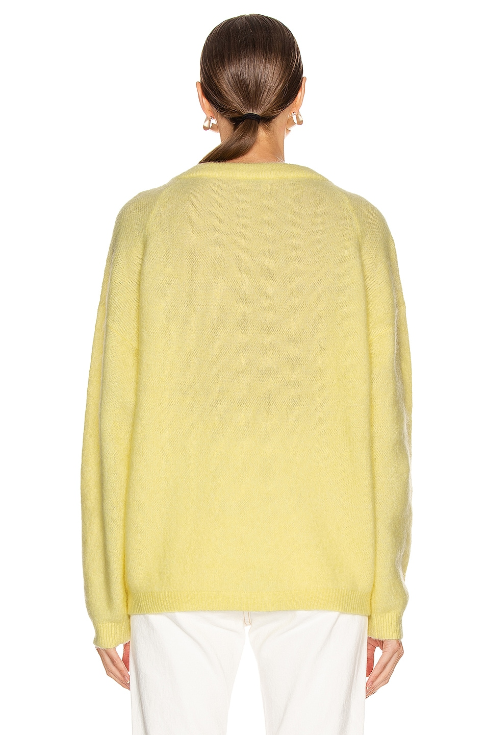 Image 3 of Acne Studios Dramatic Mohair Sweater in Light Yellow