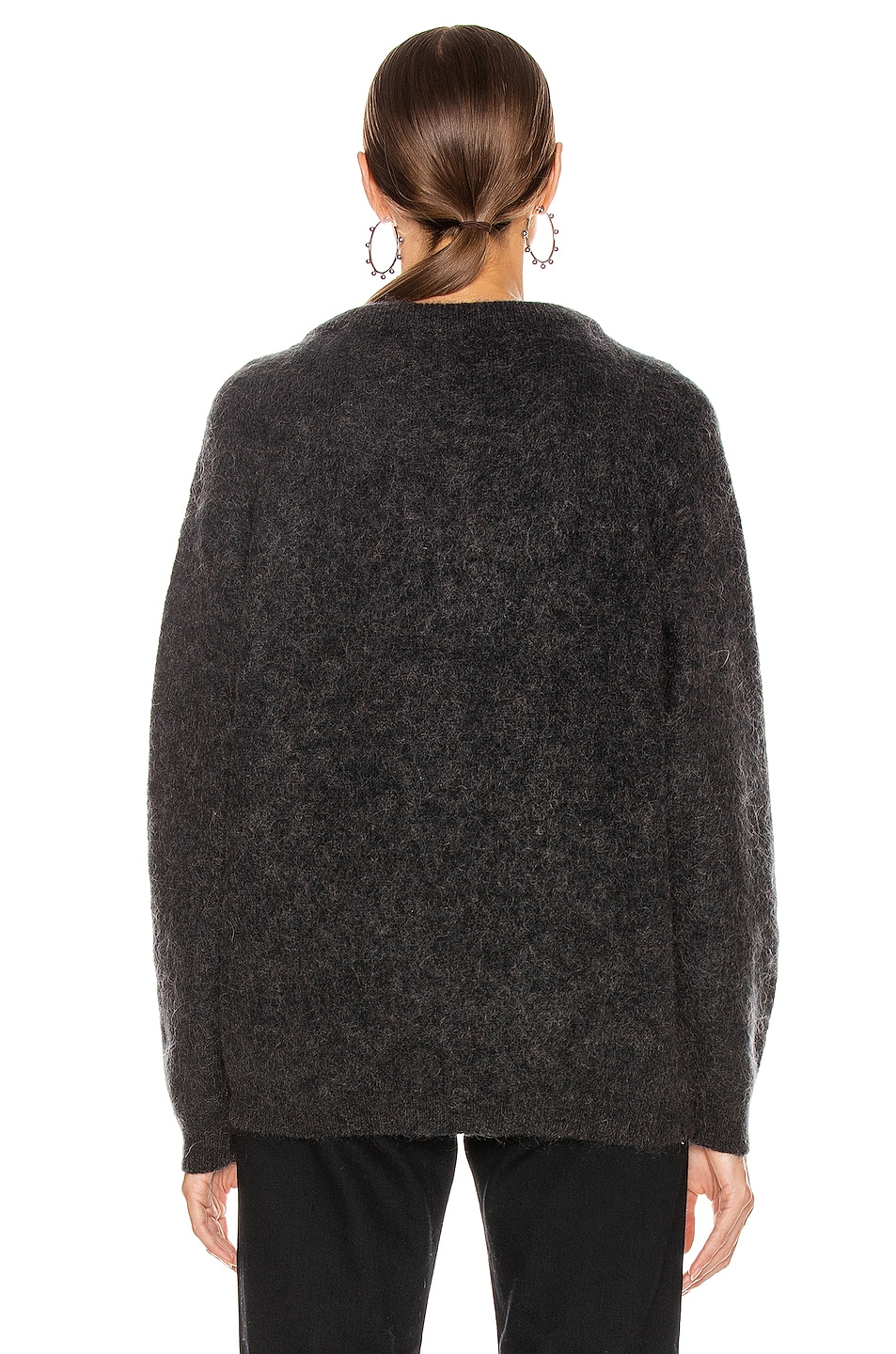 Image 3 of Acne Studios Dramatic Mohair Sweater in Warm Charcoal