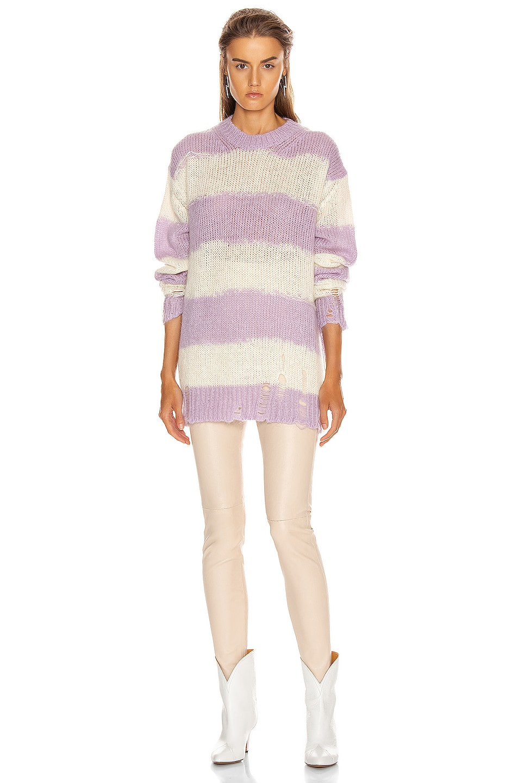 Image 4 of Acne Studios Kantonia Stripe in Lilac & White