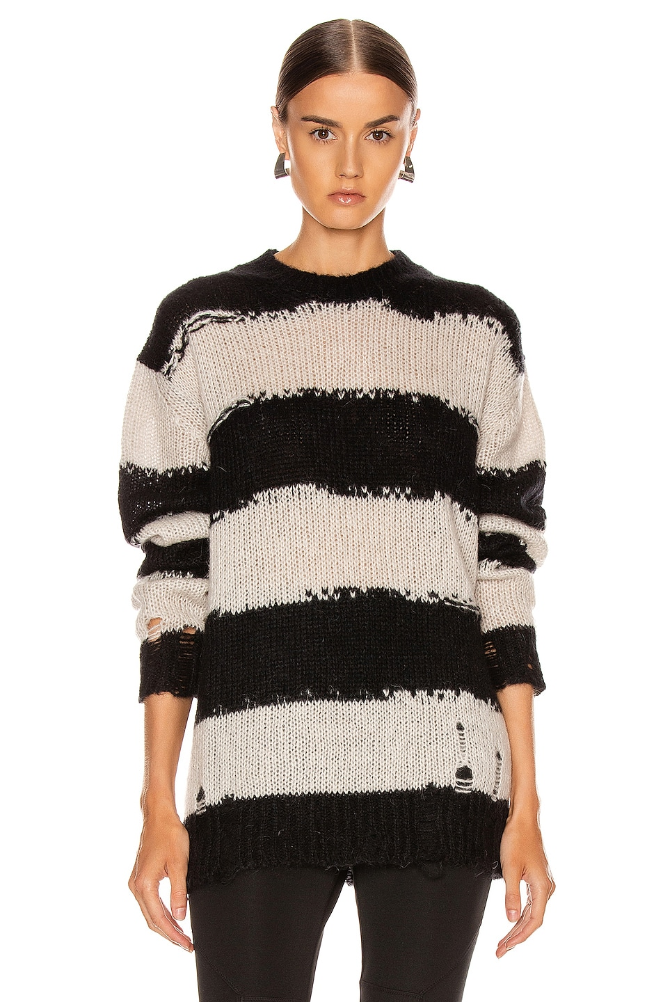 Image 1 of Acne Studios Kantonia Stripe in Black & Grey