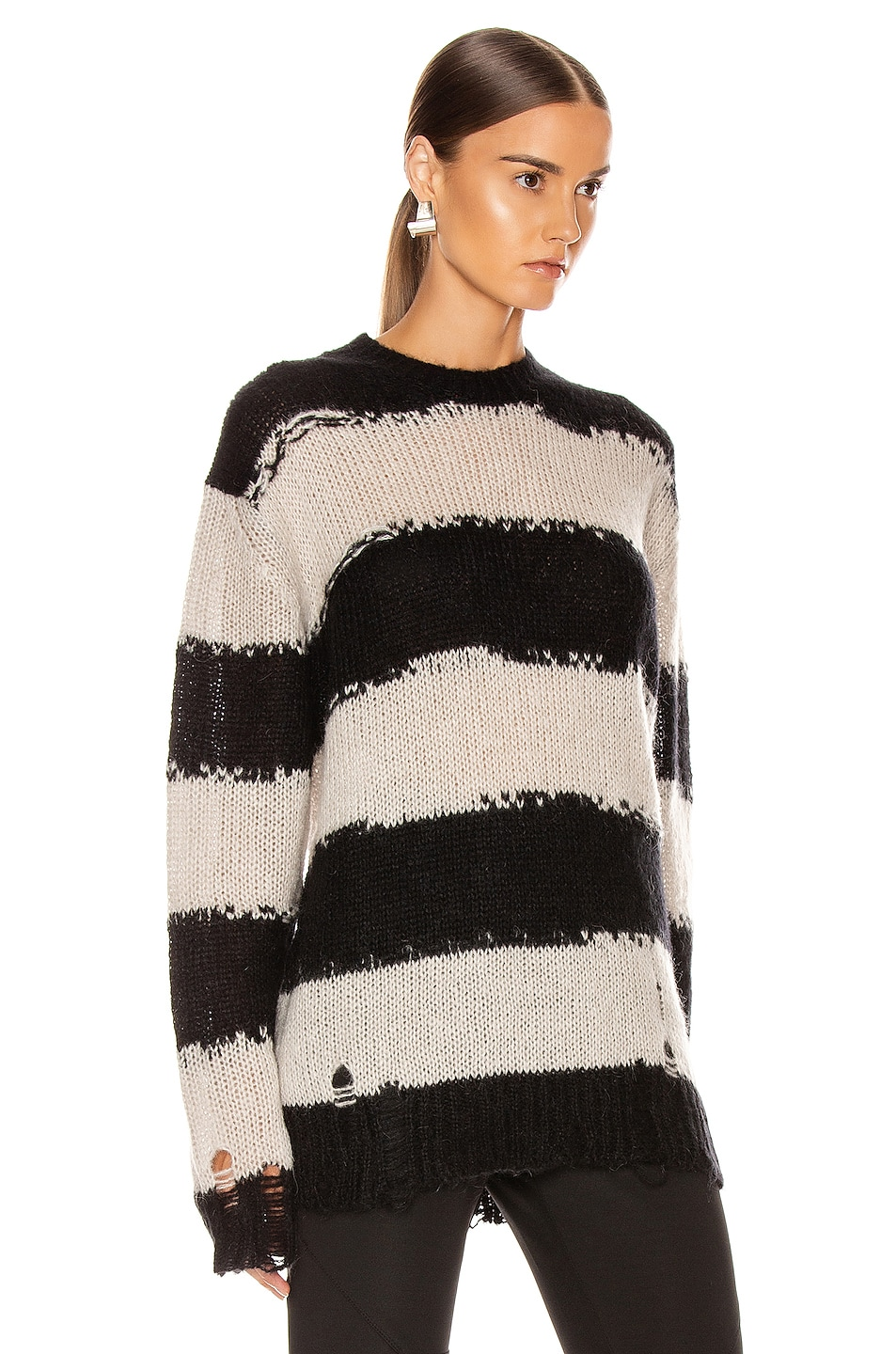 Image 2 of Acne Studios Kantonia Stripe in Black & Grey