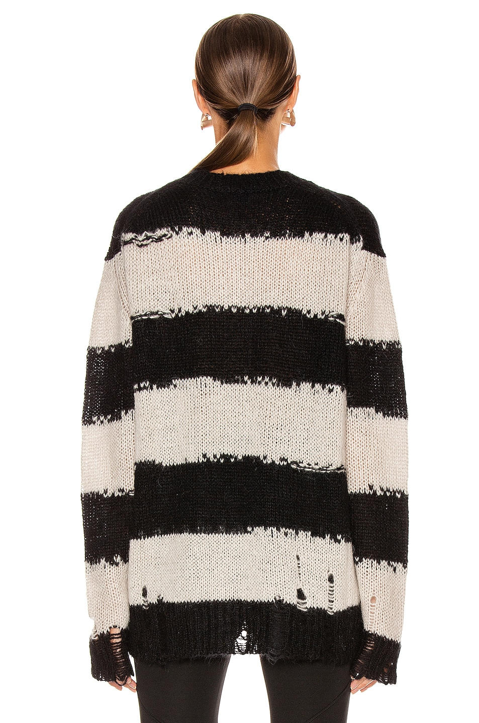 Image 3 of Acne Studios Kantonia Stripe in Black & Grey