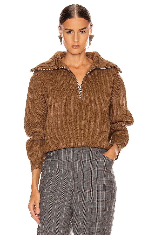 Image 1 of Acne Studios Kelanie Pullover Sweater in Toffee Brown