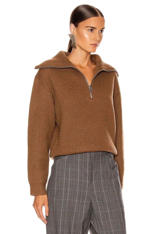 Image 2 of Acne Studios Kelanie Pullover Sweater in Toffee Brown