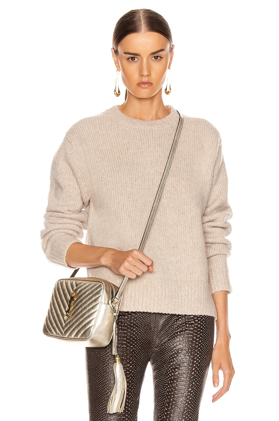 Image 1 of Acne Studios Kiany Sweater in Cold Beige