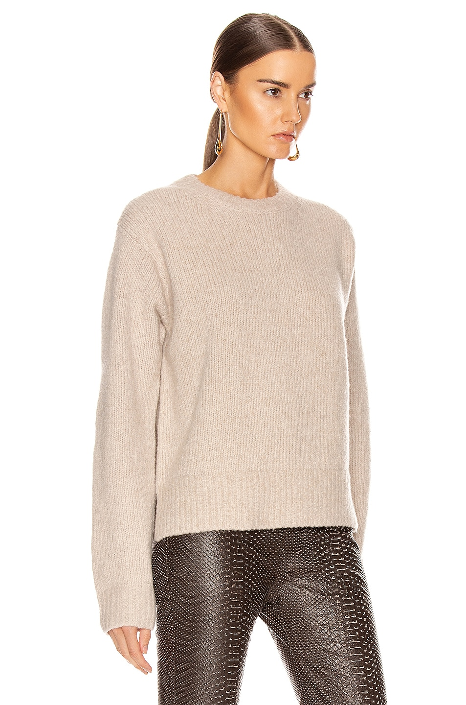 Image 2 of Acne Studios Kiany Sweater in Cold Beige