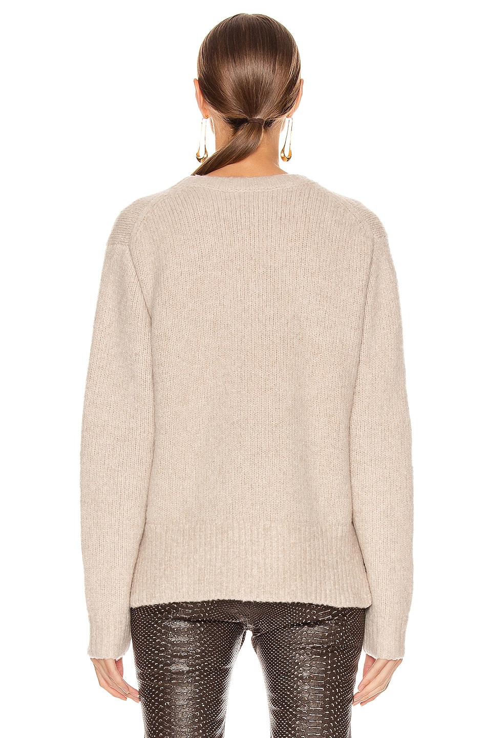 Image 3 of Acne Studios Kiany Sweater in Cold Beige
