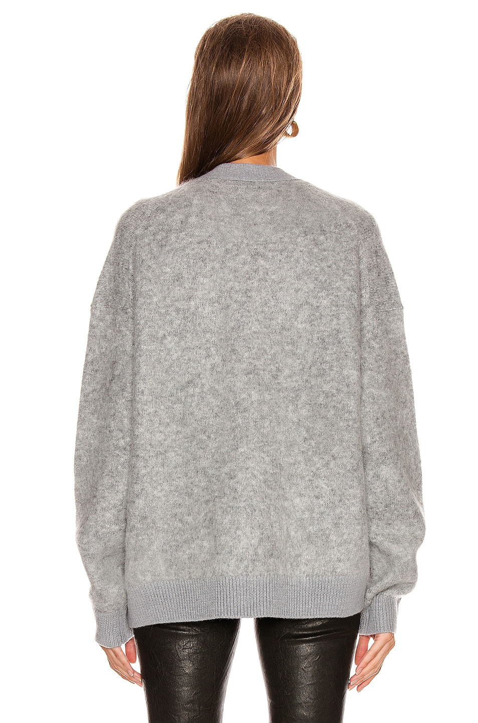 Image 3 of Acne Studios Rives Mohair Cardigan in Cold Grey Melange