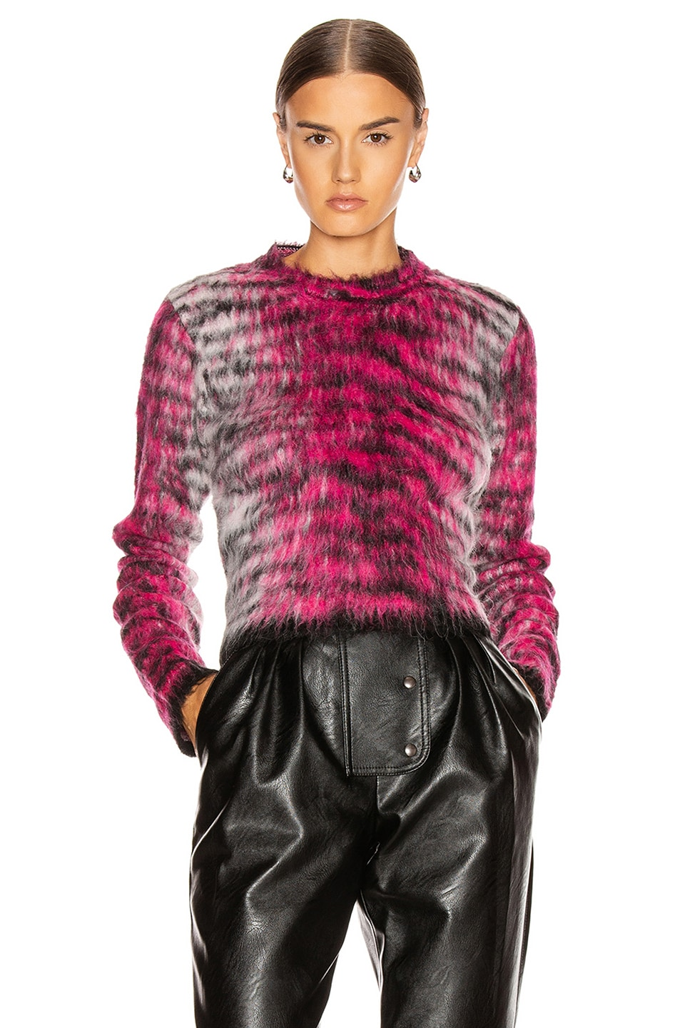 Image 1 of Acne Studios Khangyu Sweater in Pink & Multi