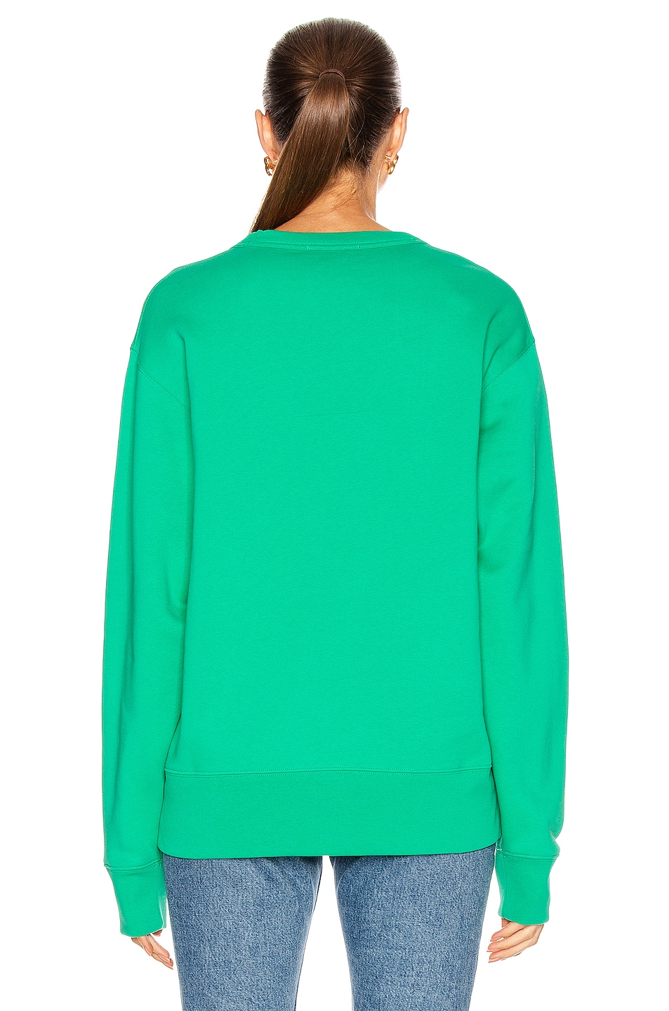 Image 3 of Acne Studios Fairview Face Pullover Sweatshirt in Emerald Green
