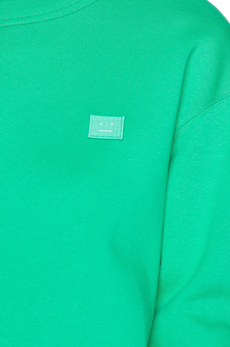 Image 5 of Acne Studios Fairview Face Pullover Sweatshirt in Emerald Green