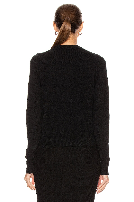 Image 4 of Acne Studios Keva Face Cardigan in Black