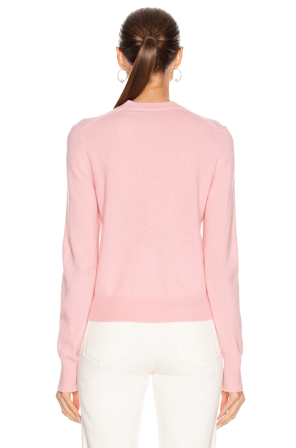 Image 3 of Acne Studios Keva Face Cardigan in Blush Pink