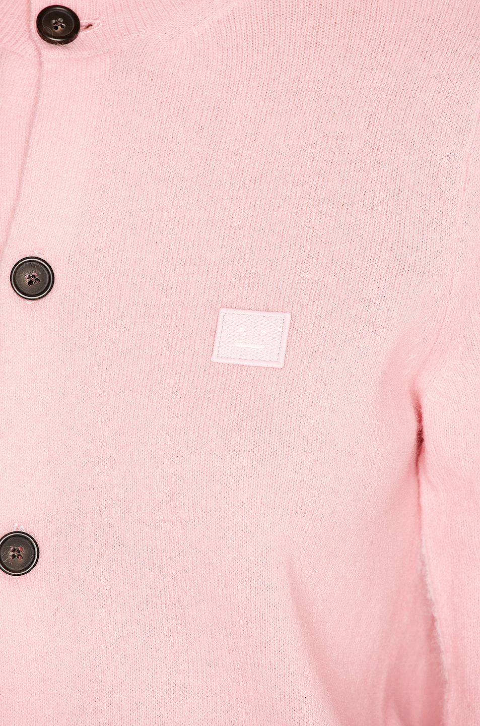 Image 5 of Acne Studios Keva Face Cardigan in Blush Pink