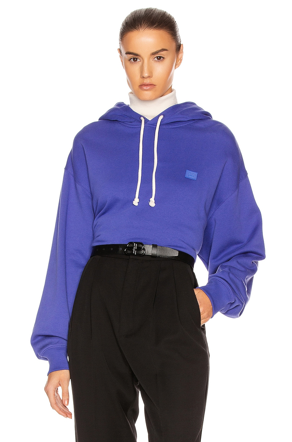 Image 1 of Acne Studios Face Sweatshirt in Electric Blue