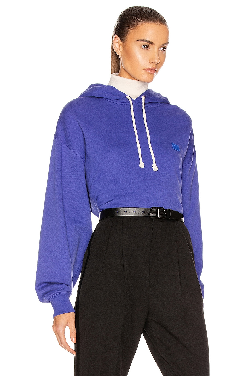 Image 2 of Acne Studios Face Sweatshirt in Electric Blue
