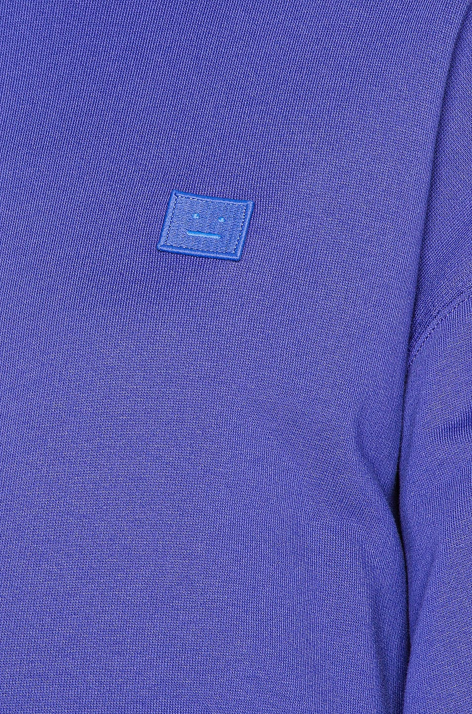 Image 5 of Acne Studios Face Sweatshirt in Electric Blue