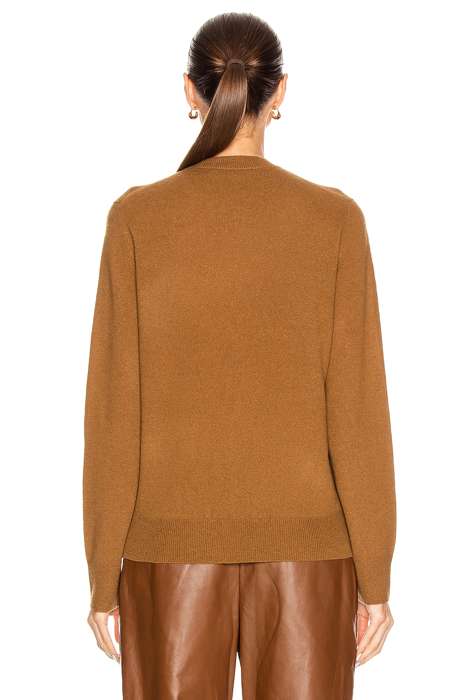 Image 3 of Acne Studios Kalon Face Sweater in Caramel Brown