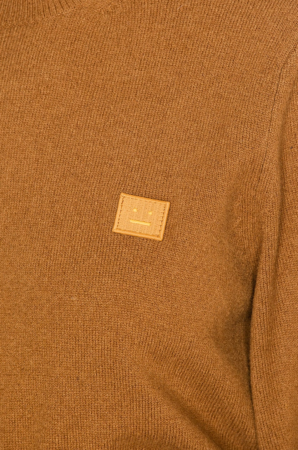 Image 5 of Acne Studios Kalon Face Sweater in Caramel Brown