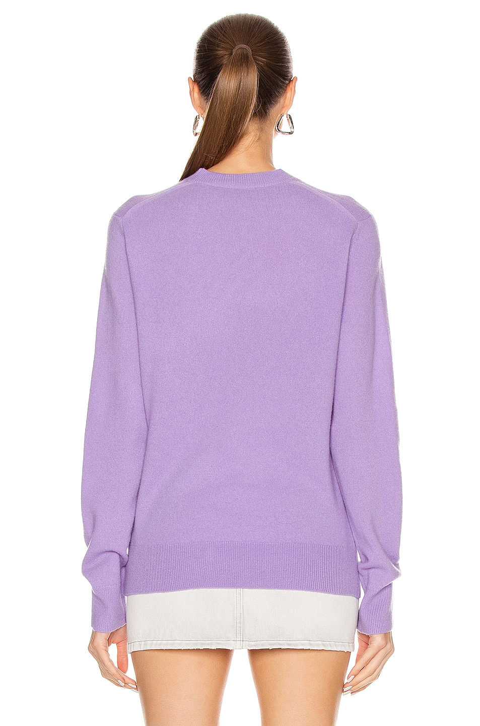 Image 3 of Acne Studios Kalon Face Sweater in Lavender Purple