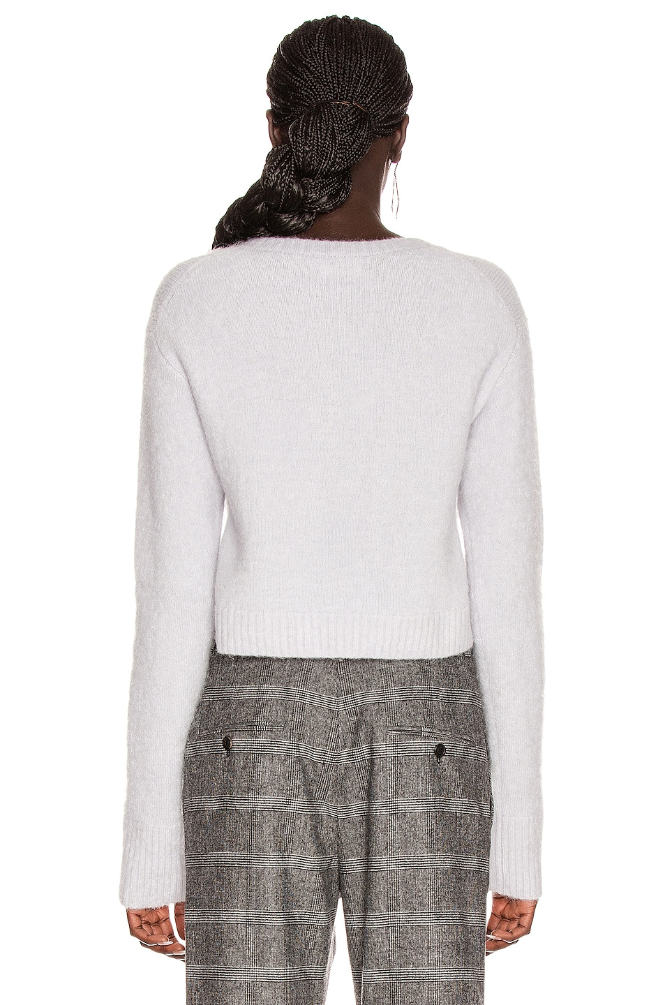 Image 3 of Acne Studios Kari Alpaca Cardigan in Ice Blue
