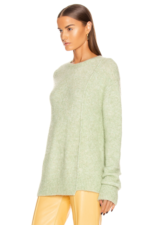 Image 3 of Acne Studios Kerna Alpaca Sweater in Pistachio Green