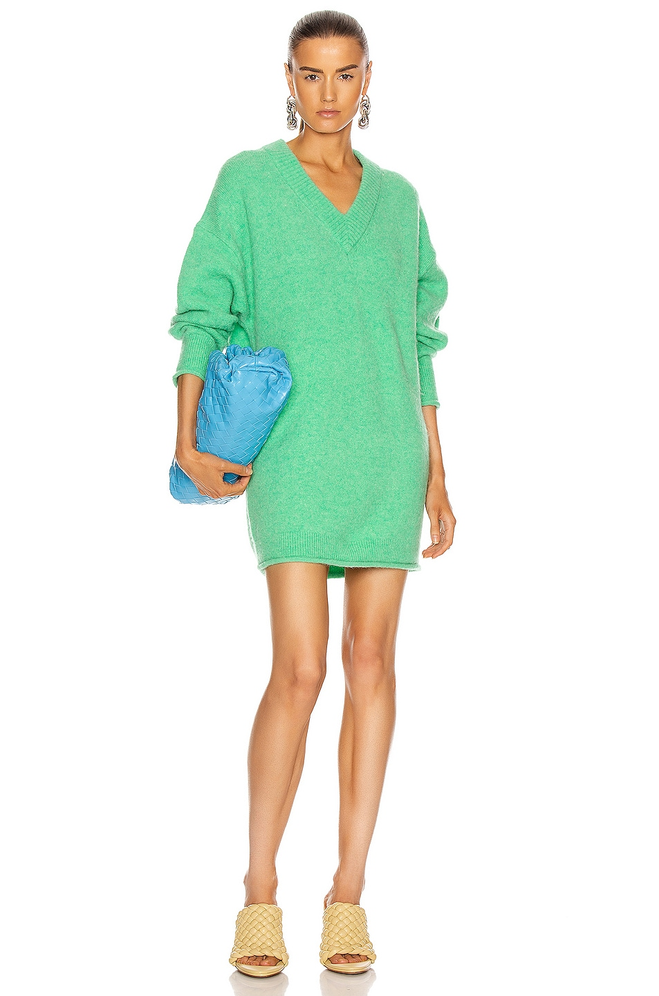 Image 1 of Acne Studios Keandra Sweater in Bright Green